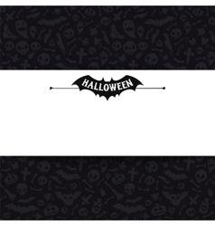 White Paper Sheet on Dark Halloween Background vector image vector image
