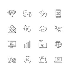 5g network icon free wireless safety technology vector image