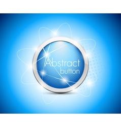 Abstract blue button vector