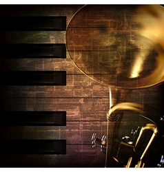 Abstract grunge dark brown vintage music vector