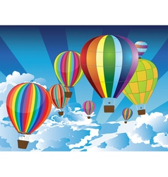 Air Balloons in the Sky vector image