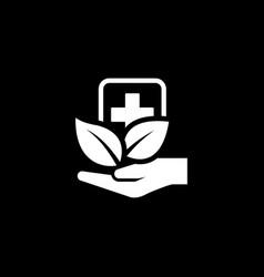 Alternative medicine icon flat design vector