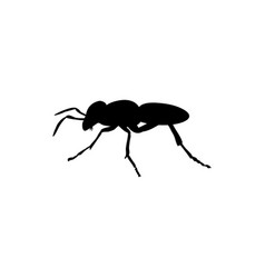 Ant insect black silhouette animal vector