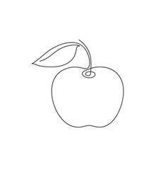 apple one line vector image