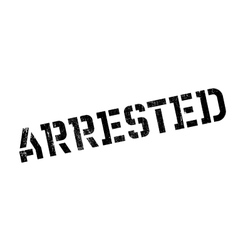 Arrested rubber stamp vector