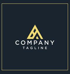 Ba triangle logo vector
