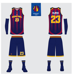 basketball uniform template design vector image