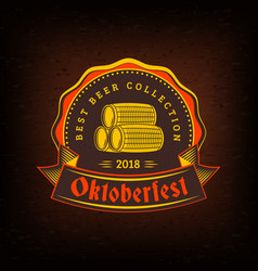 Beer festival oktoberfest celebrations vintage vector