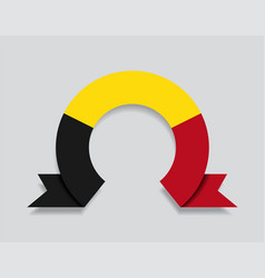 belgian flag rounded abstract background vector image