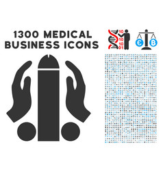 Blowjob icon with 1300 medical business icons vector