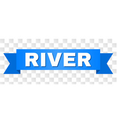 Blue stripe with river text vector
