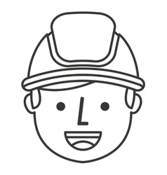 Builder avatar isolated icon vector
