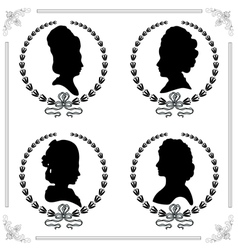 Cameo set vector