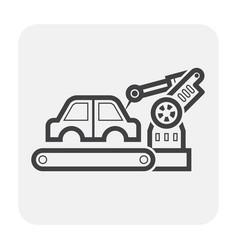 Car production icon vector