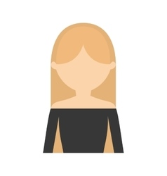Character blonde woman gray blouse vector