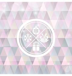 Christmas background with symbol round stamp vector image