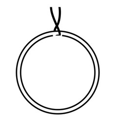Circular tag icon vector
