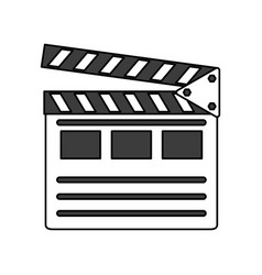clapperboard vector image
