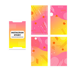 Colorful and modern instagram story background vector