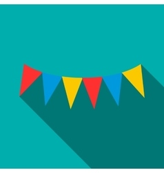 Colorful party flags icon flat style vector