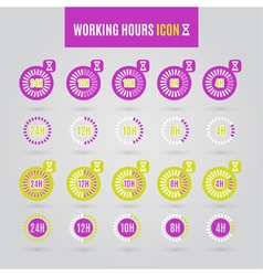 Colorful working hours icon vector image