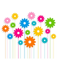creative colorful flower pattern background vector image