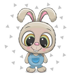 Cute rabbit on a white background vector