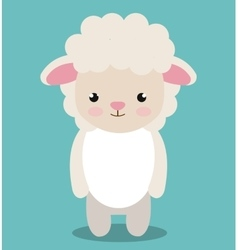 Cute sheep animal farm isolated icon design vector