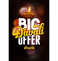 Diwali offer vector