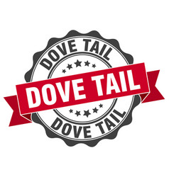 Dove tail stamp sign seal vector