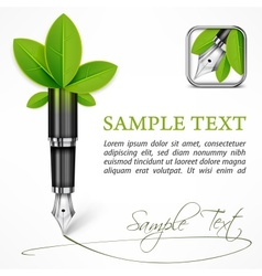 Ecology concept fountain vector image vector image