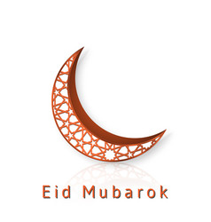 eid mubarak islamic design crescent moon vector image