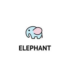 elephant logo design isolated on white vector image