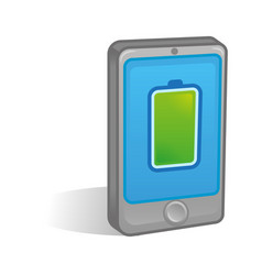 fall battery on smartphone vector image