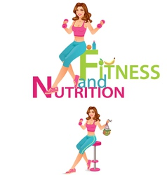 Fitness and Nutrition vector image