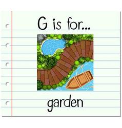 Flashcard letter g is for garden vector