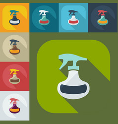 Flat modern design with shadow icons spray vector