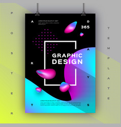geometric gradient background trendy graphic vector image