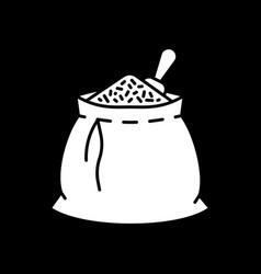 Grain in sack dark mode glyph icon vector