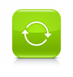 Green arrow repeat reload refresh rotation sign vector
