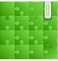 Green plastic pieces puzzle game vector