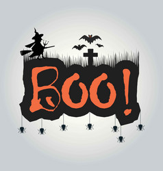 happy halloween lettering holiday vector image