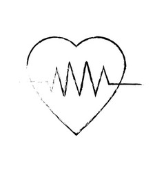 Heartbeat heart pulse wellness care icon vector