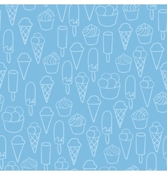 Ice cream shop promotion pattern advertising vector image