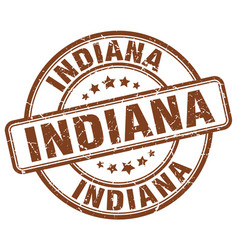 Indiana stamp vector