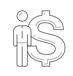 investment line icon vector image