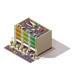 isometric car park vector image