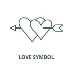 love symbol line icon linear concept vector image
