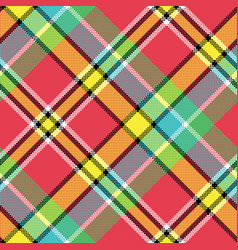 madras diagonal fabric texture pixeled seamless vector image