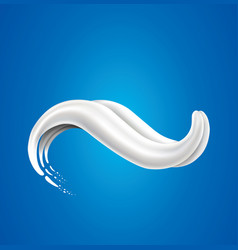 Milk splash with white tongue vector